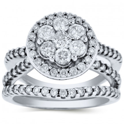 WLR61841W | Halo Ladies Engagement Ring | Payroll Jewelry
