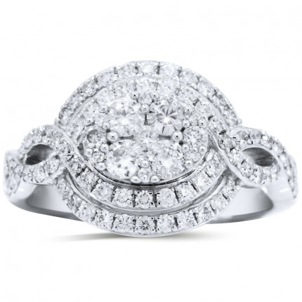 WLR71528W | Halo Ladies Engagement Ring | Payroll Jewelry