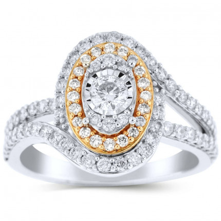 WLR77512PW | Halo Ladies Engagement Ring | Payroll Jewelry
