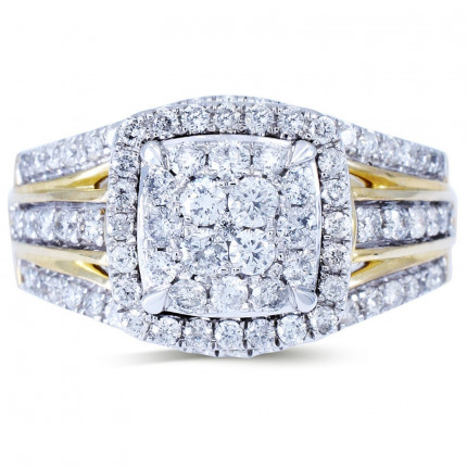 WLR804033Y | Halo Rings | Payroll Jewelry