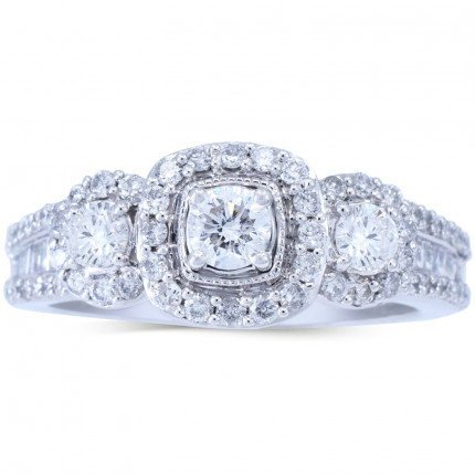 WLR806471W   Halo Rings   Payroll Jewelry