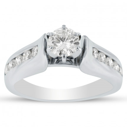 WS10350W | Side Stone Engagement Ring | Payroll Jewelry