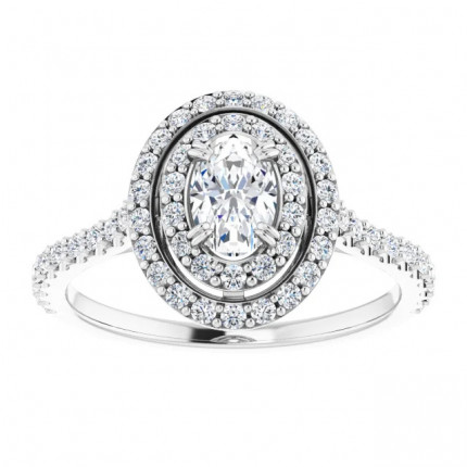 WS122087OV | Halo Engagement Ring | Payroll Jewelry