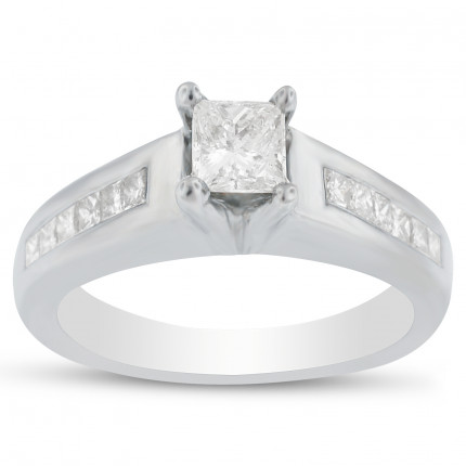 WS1233PRW | Side Stone Engagement Ring | Payroll Jewelry