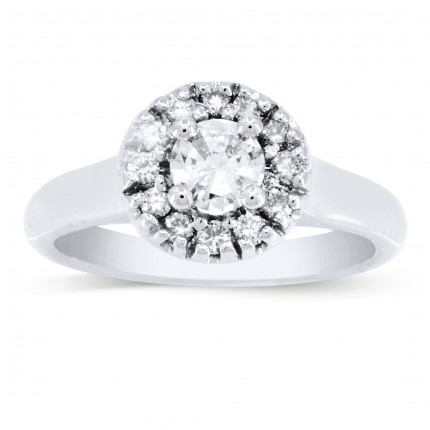 WS12403W | Halo Engagement Ring | Payroll Jewelry