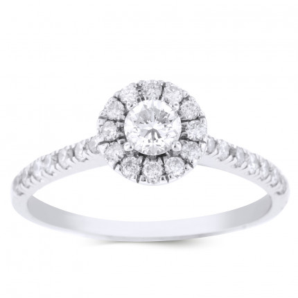 WS26311W | Halo Engagement Ring | Payroll Jewelry