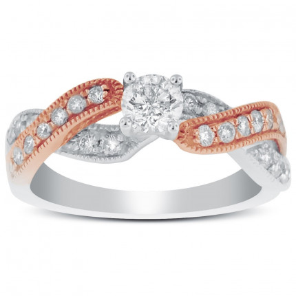 WS26495PW | Side Stone Engagement Ring | Payroll Jewelry