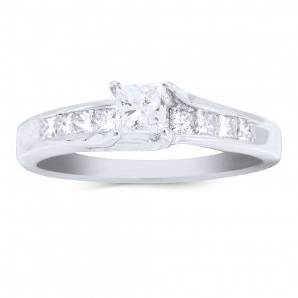 WS368FPRW | Side Stone Engagement Ring | Payroll Jewelry