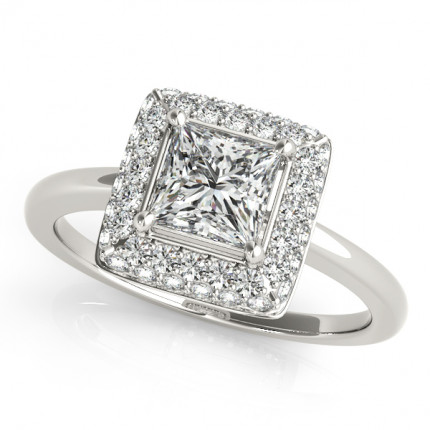 WS50565W | Halo Engagement Ring. | Payroll Jewelry