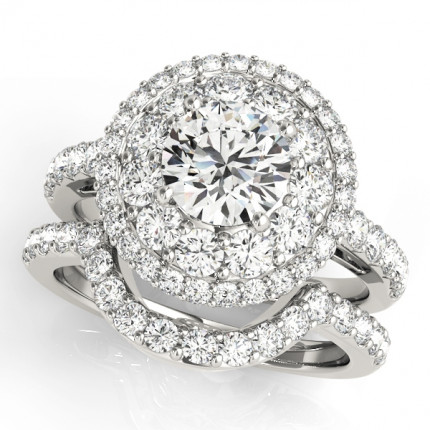 WS50661SET | Halo Wedding Set Engagement Ring. | Payroll Jewelry