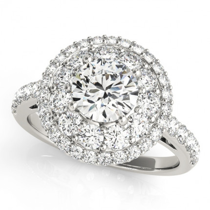WS50661E | Halo Engagement Ring. | Payroll Jewelry