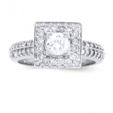 WS53355W | Halo Engagement Ring | Payroll Jewelry
