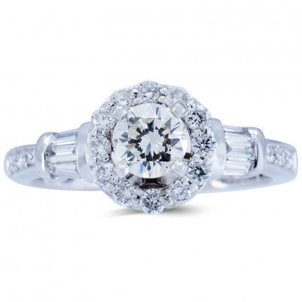 WS542W   Halo Rings   Payroll Jewelry