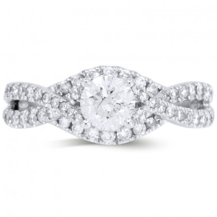 WS55506W | Halo Engagement Ring | Payroll Jewelry