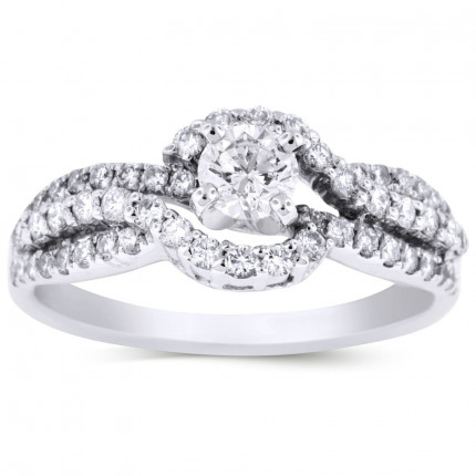 WS56465W   Halo Engagement Ring   Payroll Jewelry