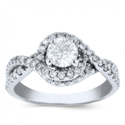 WS60722W | Halo Engagement Ring | Payroll Jewelry