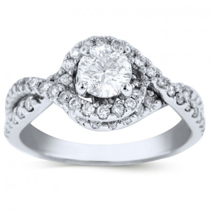 WS60722W   Halo Engagement Ring   Payroll Jewelry