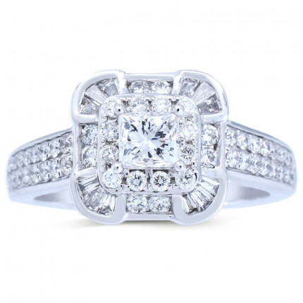 WS661586W | Halo Rings | Payroll Jewelry