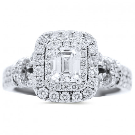 WS70998W   Halo Engagement Ring   Payroll Jewelry