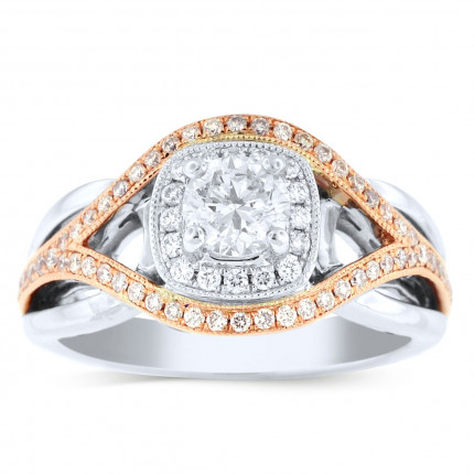 WS80663PW | Halo Engagement Ring | Payroll Jewelry