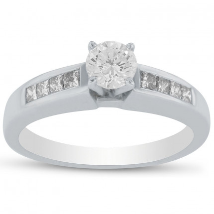 WS8202W  | Side Stone Engagement Ring | Payroll Jewelry