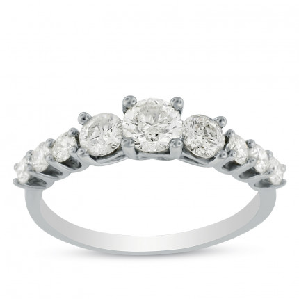 WS9345W | Three Stone Engagement Ring | Payroll Jewelry