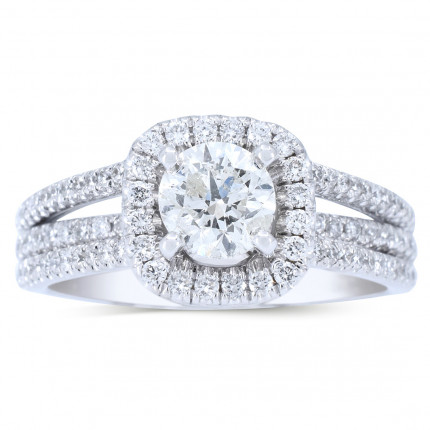 WS972W   Halo Rings   Payroll Jewelry