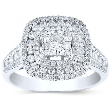 WSF112445W | Halo Engagement Ring | Payroll Jewelry