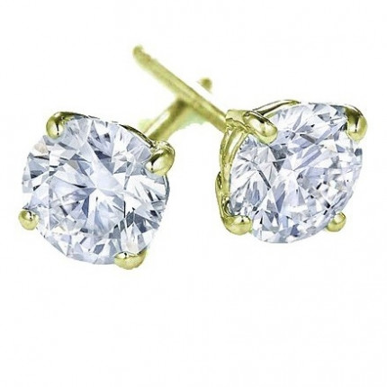 ER4125Y | Yellow Gold Diamond Ear Studs | Payroll Jewelry