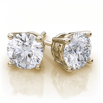 ER4150Y | Yellow Gold Diamond Ear Studs | Payroll Jewelry