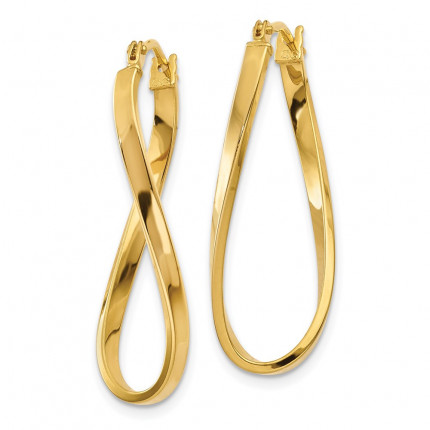 Z1184 | Gold Hoop Earrings | Payroll Jewelry